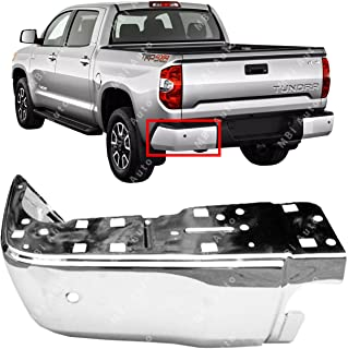 MBI AUTO - Chrome, Steel Driver's LH Rear Bumper End for 2014-2018 Toyota Tundra 14-17 W/Park, TO1104124