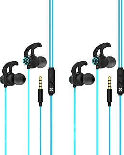 Promate In-Ear Wired Earbuds, Premium 3.5mm HD Stereo Sound Earphones with Mic, Sweat Resistant, Anti-Tangled Cords and Pa...
