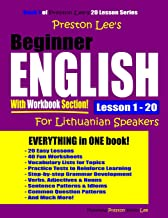 Preston Lee's Beginner English With Workbook Section Lesson 1 – 20 For Lithuanian Speakers