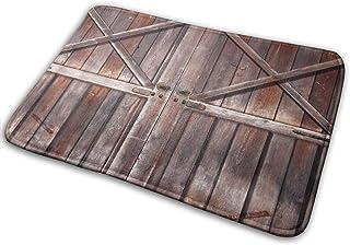 Old Wooden Door Bath Mat Non Slip Retro Country Super Bathroom Rug Indoor Carpet Doormat Floor Dirt Trapper Mats Shoes Scr...