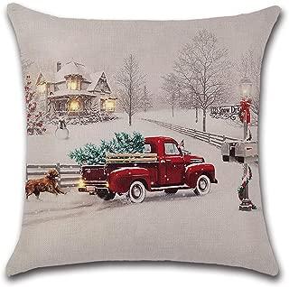 axsl Farmhouse Christmas Tree in Red Car Pillow Cover Cute Dog Pillow Cushion Case Throw Pillow Case Cushion Cover 18