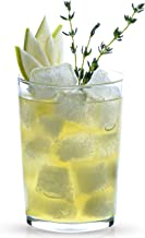 LAV 6-Piece Bodega 17.6 Ounce Drinking Highball Glasses - All Purpose Glasses for Water Beverages and Beer