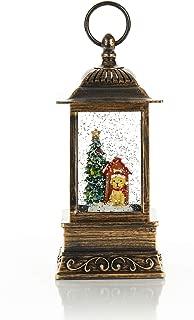 ReLive Christmas Light-Up Snow Globe Lantern - Dog with Santa Hat