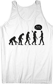 Human Evolution おかしいです Humanity 皮肉な 男性用 Tank Top Sleeveless Shirt