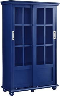 metal bookcase with doors