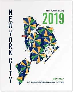 Run Ink Personalized New York City Marathoner Map Print Poster