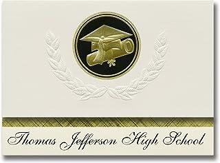 Signature Announcements Thomas Jefferson High School (Cedar Rapids, IA) Graduation Announcements, Presidential style, Elit...