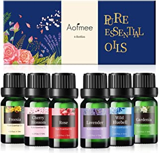 Essential Oils Set, Aofmee Essential Oils Set for Diffuser, Aromatherapy Diffuser Oils, Pure Essential Oils for Candle Soa...