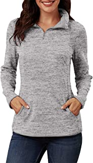 2019 Women's Stand-up Collar Sweatshirt Long Sleeves Side Pockets Short Zipper Solid Pullover (5 Colors, S-XXL)