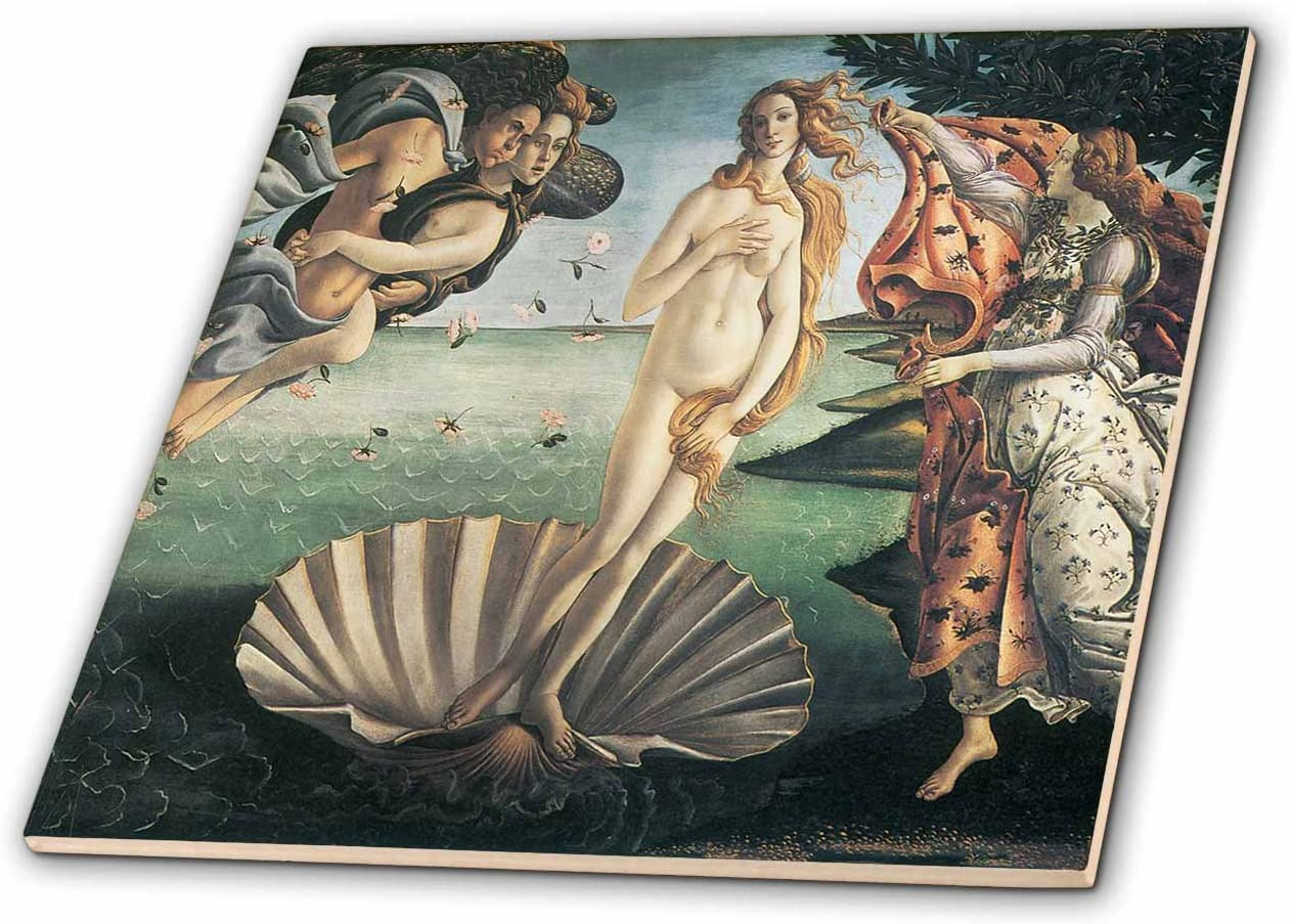 4-inch ct/_127039/_1 3dRose Birth of Venus by Sandro Botticelli Ceramic Tile