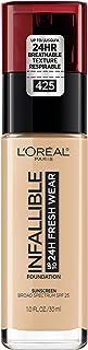 L'Oréal Paris Makeup Infallible up to 24HR Fresh Wear Liquid Longwear Foundation, Lightweight, Breathable, Natural Matte Finish, Medium-Full Coverage, Sweat & Transfer Resistant, Linen, 1 fl. oz.