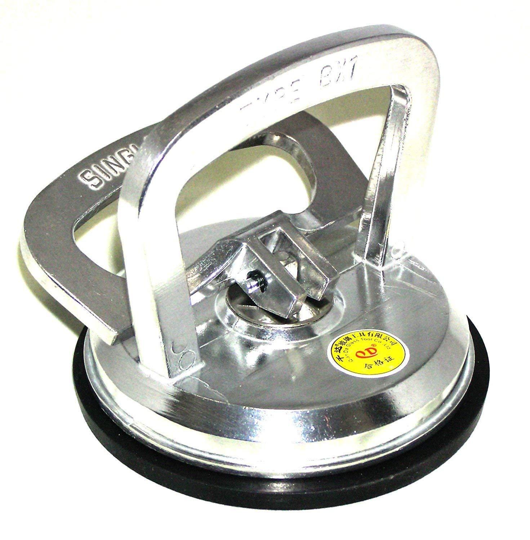 2 2x Suction Pad Cup Aluminium Heavy Duty 50kg Glass Lifter Carry Car Dent Puller Sucker