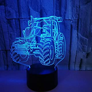 HPBN8 Ltd Illusion Optique 3D Tracteur Nuit Lampe Art Déco Lampe Lumières LED Décoration Lampes Touch Control 7 Couleurs C...
