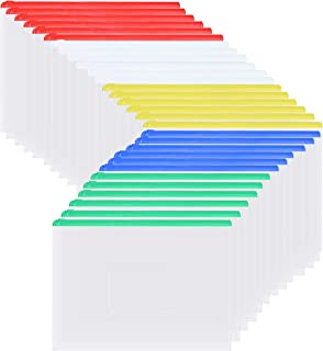 ALUWU Plastic Envelopes Poly Envelopes 30 Pack A5 Zip Lock Plastic Wallet Transparent Clear White Document File Folder Sto...