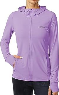 Cakulo Women's UPF 50+ Sun Protection Hoodie Jacket Full Zip Hiking Fishing Long Sleeve Shirt with Pockets