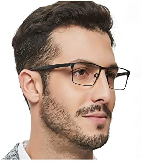 Men's Metal Eyeglasses Optical Frame Clear Lense