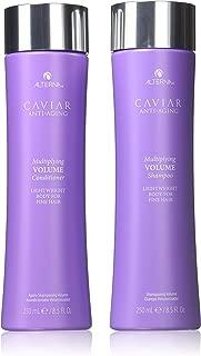 Alterna CAVIAR Anti-Aging MULTIPLYING VOLUME Shampoo & Conditioner DUO SET (Stylist Kit) Lightweight Body for FINE HAIR (8.5 oz / 250 ml DUO KIT)