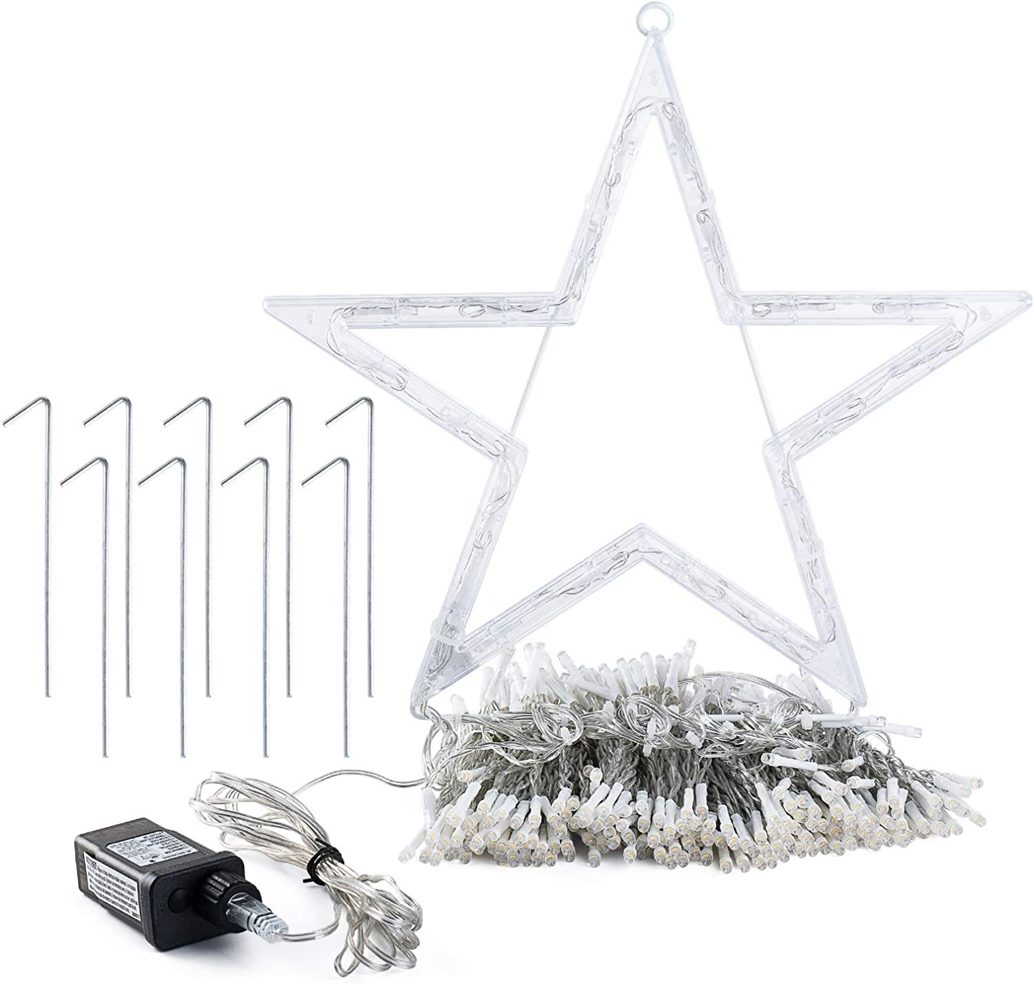 GIGALUMI Christmas Decorations Lights 344 4 years warranty Max 42% OFF Ligh Star 8 LED