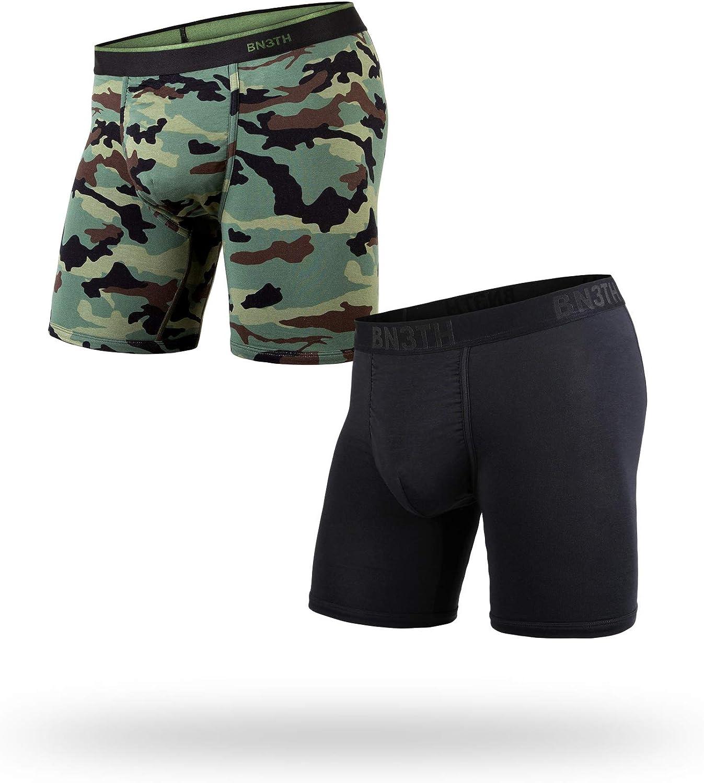 Classic Boxer Brief: Black Navy 2 Pack - Premium Underwear