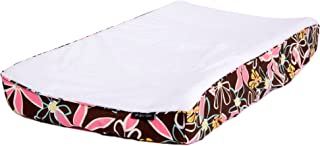 Ah Goo Baby 100% Cotton Changing Pad Cover, Universal Size, Retro Daisy Pattern