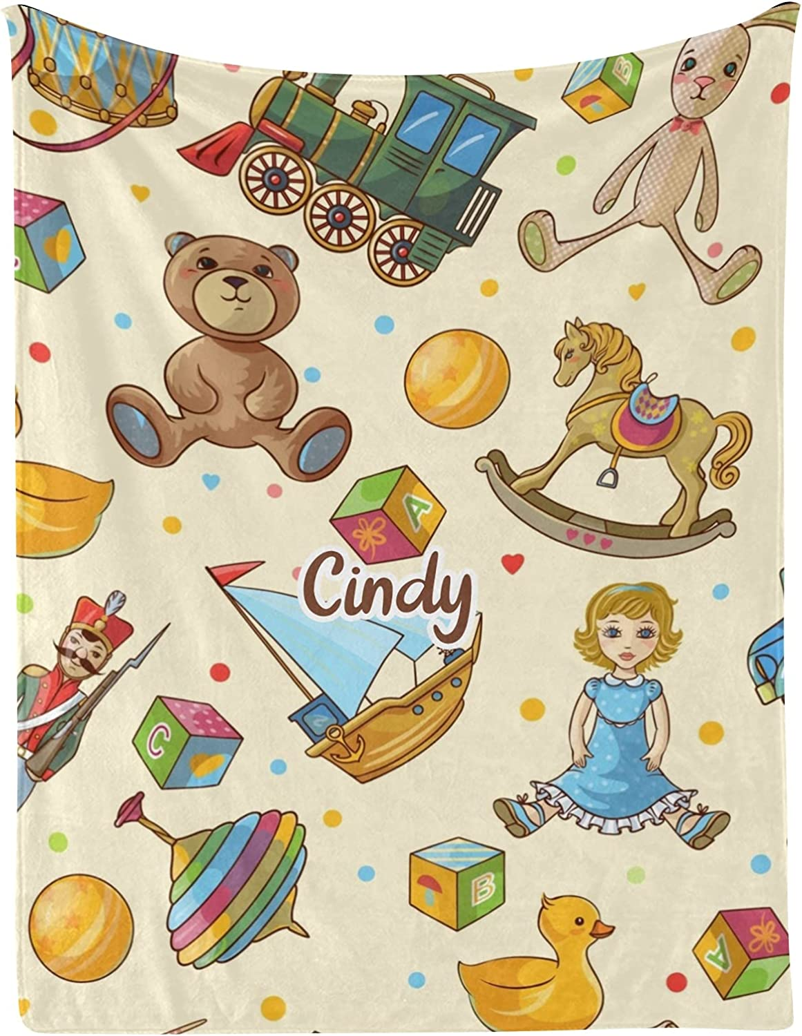 Max 41% OFF Kids Toys Bear Max 58% OFF Ball Personalized Baby Name with I 30x40 Blankets
