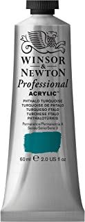 Winsor & Newton Professional Acrylic Color Paint, 60ml Tube, Phthalo Turquoise