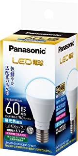 パナソニック LED電球 E17口金 電球60形相当 昼光色相当(6.7W) 広配光タイプ LDA7DGE17K60ESW2