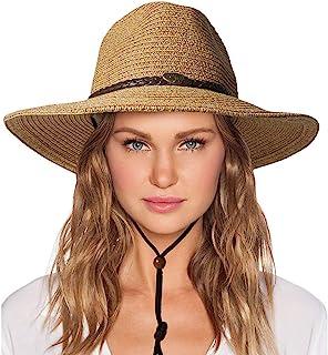 قبعة شمس للنساء مع شريط رياح وعازل للأشعة فوق البنفسجية شاطئ قابلة للحزم الصيف شاطئ راعي البقر قبعات قش جارجن للنساء والرجال