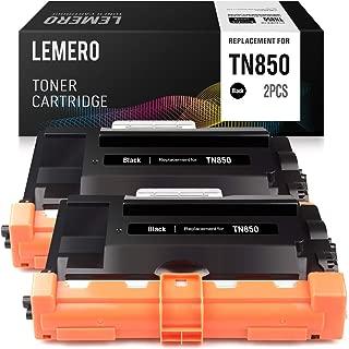 LEMERO Compatible Toner Cartridge Replacement for Brother TN850 TN-850 TN820 TN-820 for HL-L6200DW HL-L5100DN MFC-L5900DW MFC-L6800DW MFC-L5850DW (Black, 2-Pack)