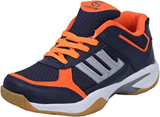 Cocus Pavoo Light Weight & Comfortable Boy PU Material Non Marking Sole Outdoor Indoor Playing - Best in Badminton, Volleyball International Badminton, Gymnastic (Gym) Sports Shoes