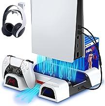 ECHTPower Ventilateur de Refroidissement pour Console PS5, Support Vertical pour Playstation 5 avec Station de Charge Mane...