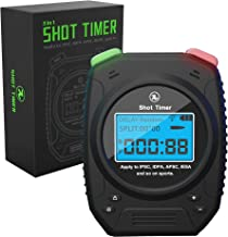 SPECIAL PIE Shot Timer - 3 in 1 Shooting Timer for Firearms Airsoft Stop Watch Perfect for Practice Shot Pistols Rifles Dry Fire in USPSA, IPSC, APSC, IDPA, 3 Gun, Steel Challenge Shot Timer (Black)