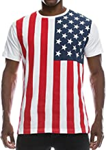 FCYOSO Men's American Flag Printed Athletic Training Pullover Tank Top Shirt