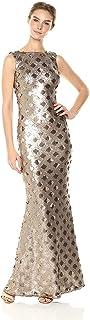 فستان فستان عامودي طويل بدون أكمام من Yvette بالترتر من Dress the Population