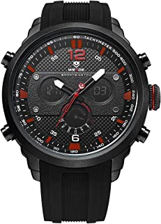 WEIDE WH6303 Quartz Digital Electronic Watch Three Sub-Dials Dual Time Week Time Display 3ATM Waterproof Timer Business Me...