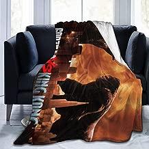 Custom Fleece Bed Blankets, Godzilla Vs King Kong Poster Wedding Throw Blankets, Spring Super Soft Thick Blanket Fit Girls Chair Car
