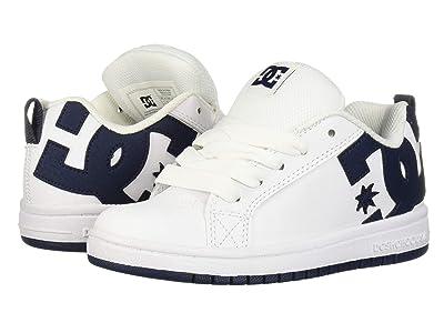 DC Kids Court Graffik (Little Kid/Big Kid) (White/Black) Boys Shoes