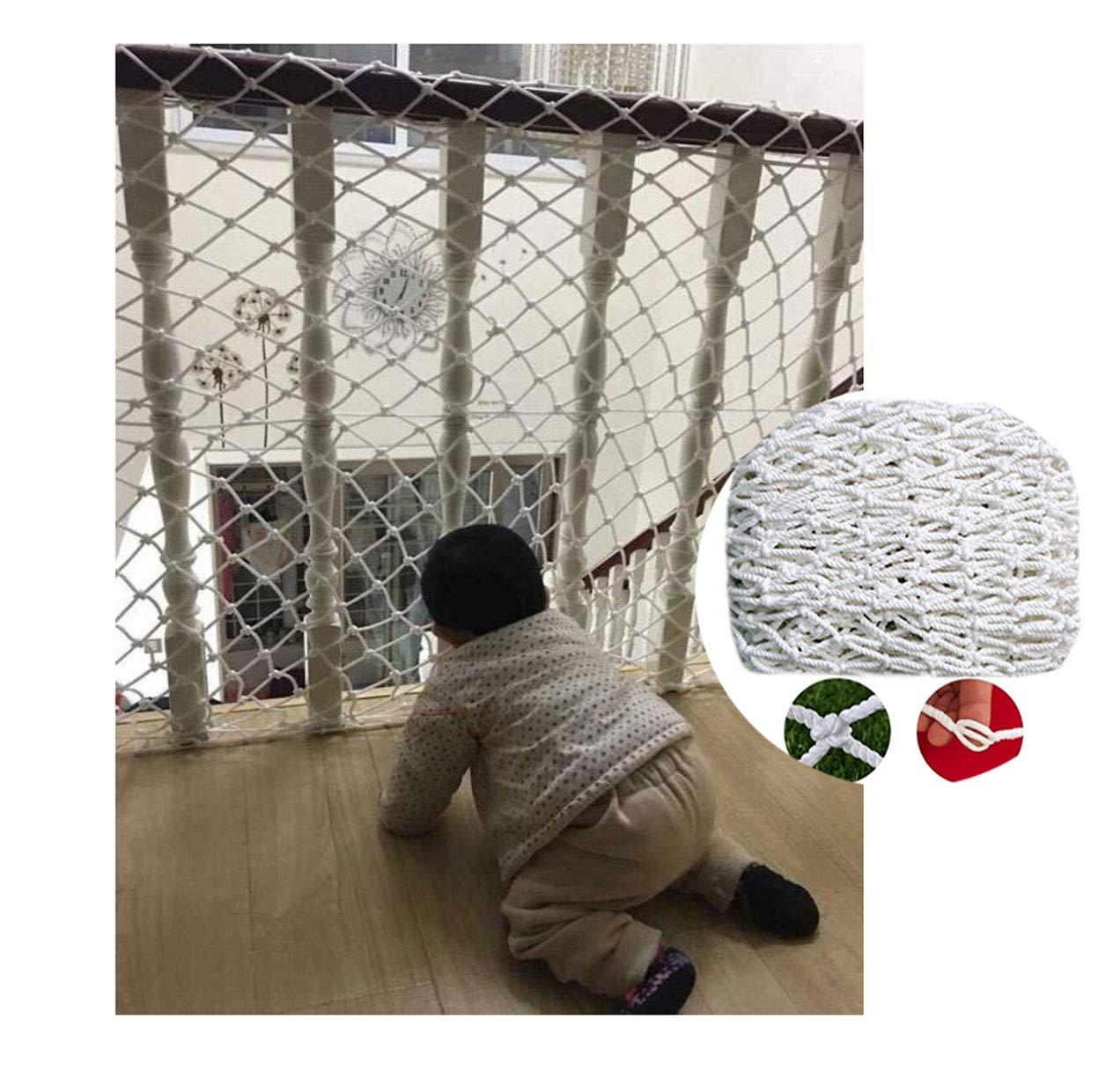 Red de seguridad blanca, red de cuerda de nylon, utilizada para la red de protección de