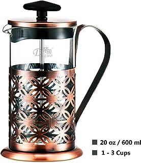 Cafetera émbolo Cafetera Francesa Espresso y Tetera con Triple Filtro émbolo 20 oz
