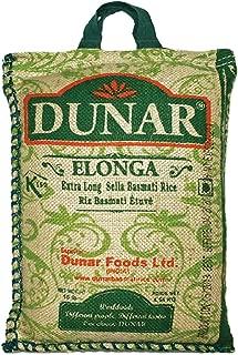Dunar Elonga Sella Basmati Rice, Parboiled, 10 Pound