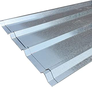 FixtureDisplays Unit of 10 Sheets of Corrugated Metal Roof Sheets Galvanized Metal 11525-10PC