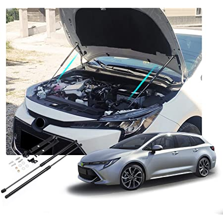 Ruiya Corolla E210 Motorhaubenstütze Motorhauben Gasfeder Schwarze Gasdruckfeder Motorhaube Aus Abs Kunststoff Und Starker Zinklegierung 2 Stück Auto