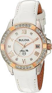 Bulova - Reloj Analógico para Mujer de Cuarzo con Correa en Cuero 98R233