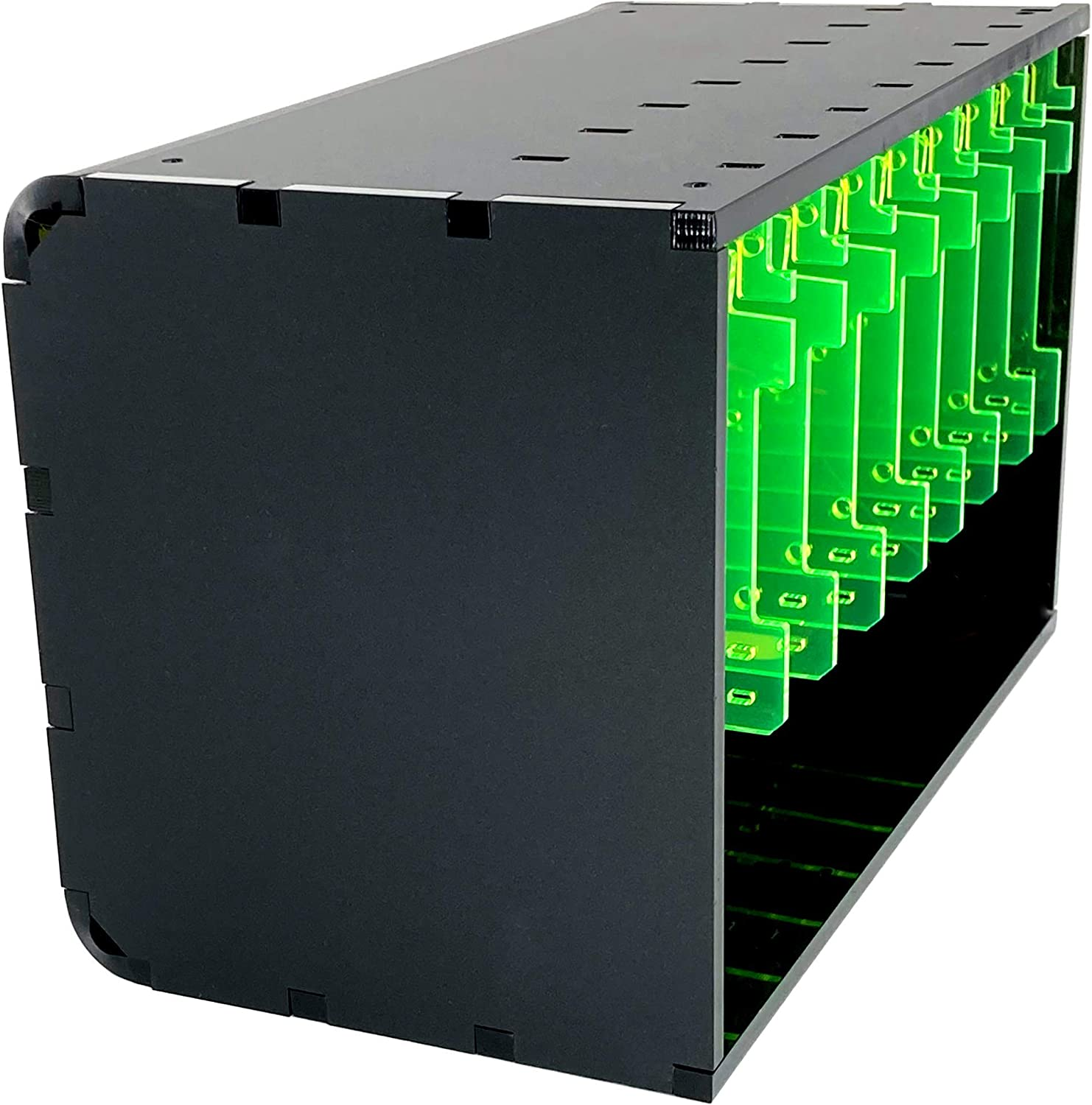 C4Labs Cloudlet CASE: Cluster Case for Raspberry Pi and Other Single Board Computers-Black Lime