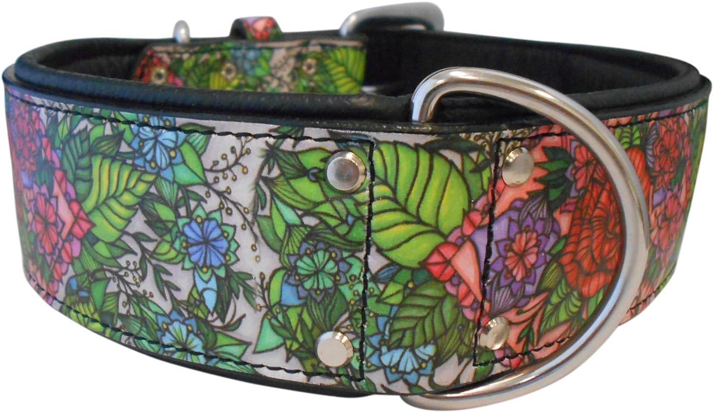 Angel Pet Supplies 70025 Garden of Eden Leather Dog Collar, 26  X 2 , Midnight Black