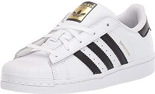 Kids' Superstar Foundation EL C Sneaker, White/Black/White, 1 M US Little Kid