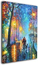 Warm-Tone Art Melody of The Night Canvas Prints Wall Art Oil Paintings for Living Room Dinning Room Bedroom Home Office Modern Wall Decor 16x20 Inch