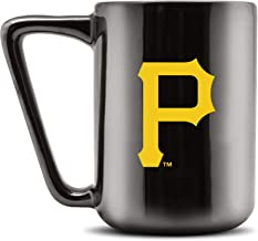 كوب قهوة من السيراميك مطبوع عليه Duck House MLB PITTSBURGH PIRATES - أسود معدني، 473.17 مل