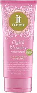 It Factor – Quick Blow Dry Conditioner – For Medium To Course Hair – Professional Grade Salon Quality Hair Care - Hairdresser Pros Love It – Enhanced Formula