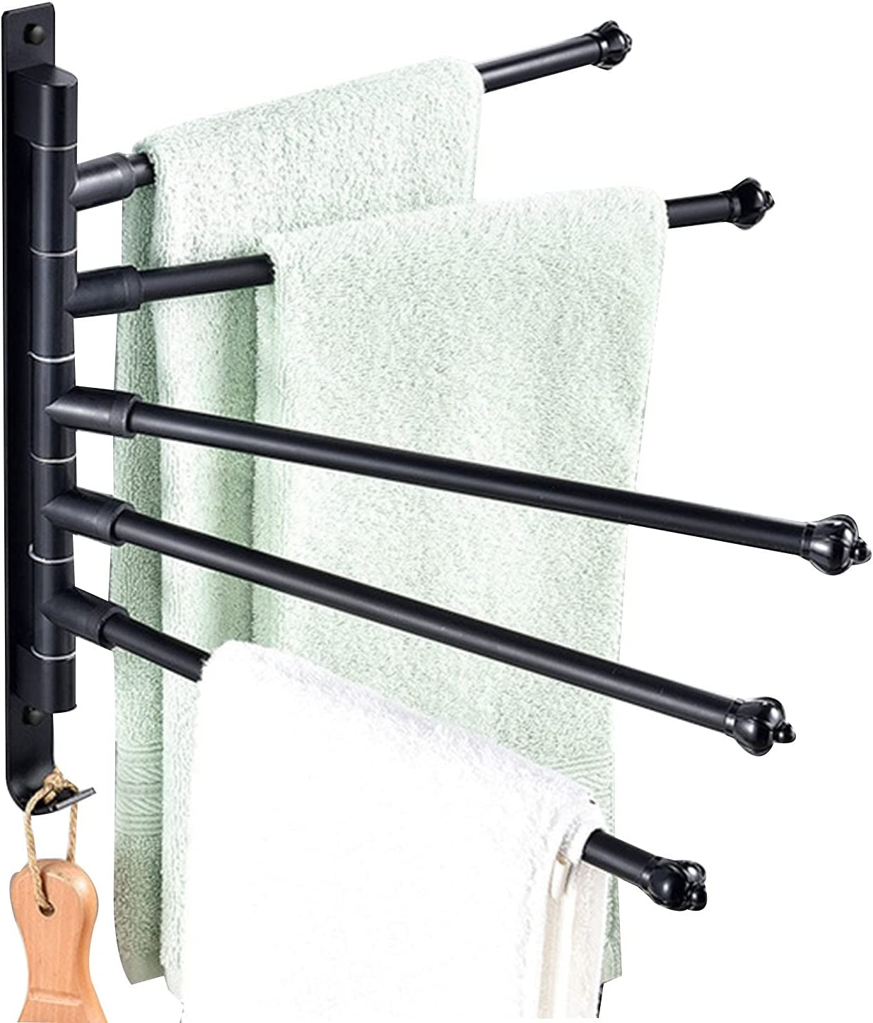 GXFWJD Swivel Towel Bar with Stain Direct store Rail Wall Max 80% OFF Mounted 5Arms